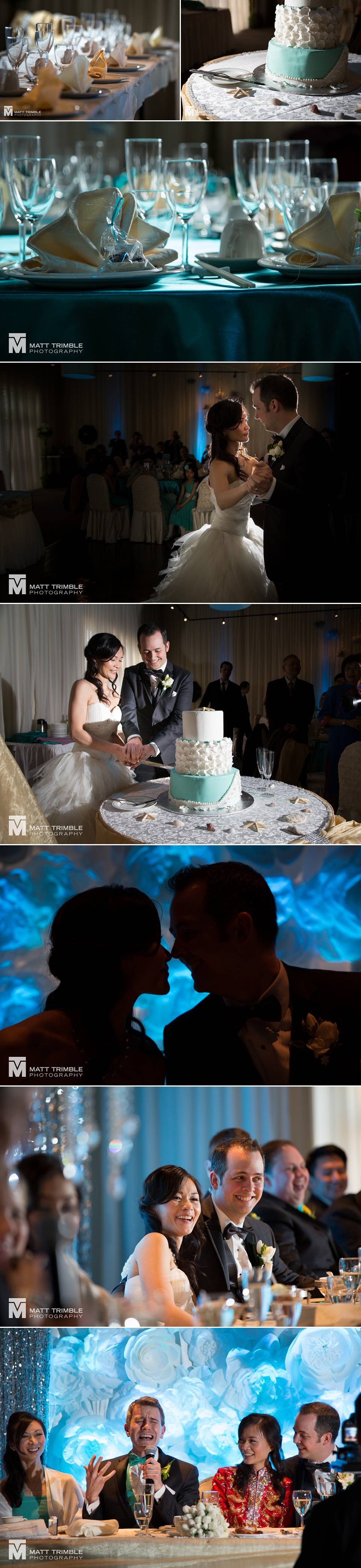 wedding reception and shangri la