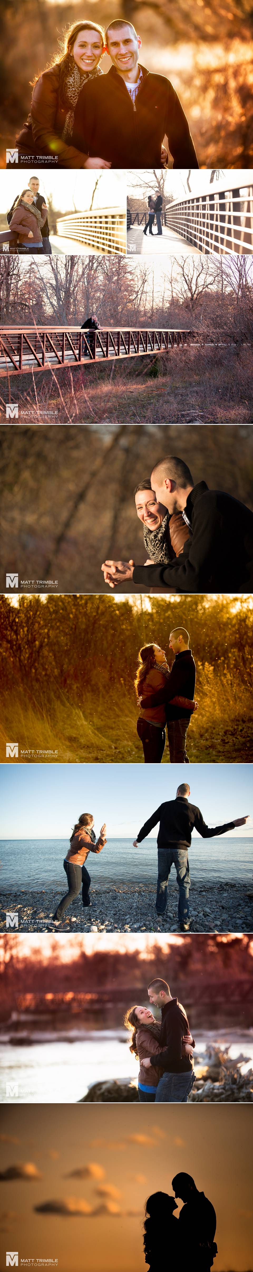 engagement photography at ajax rotary park
