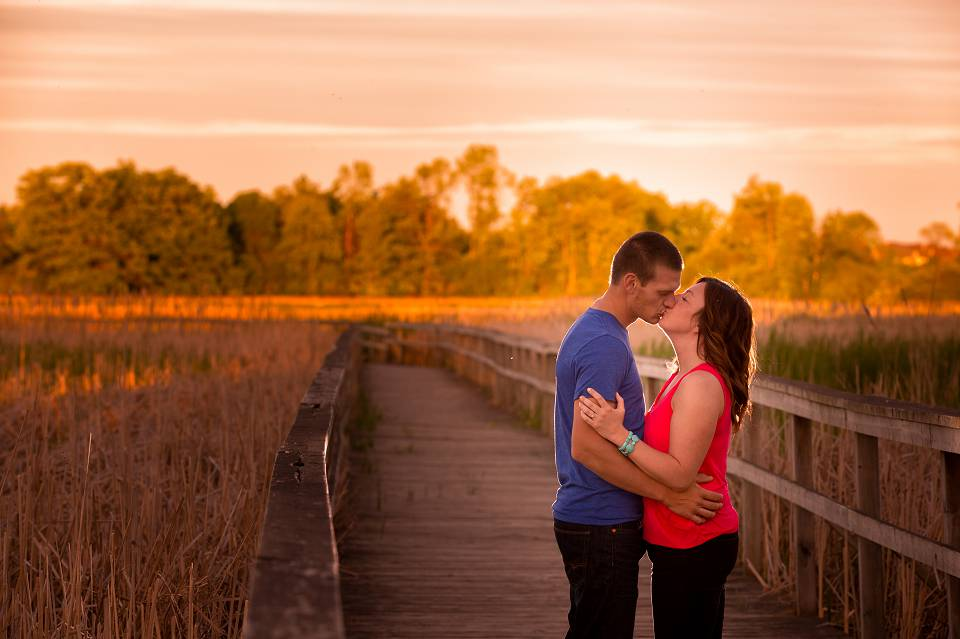 sunset engagement photography at lynde shores
