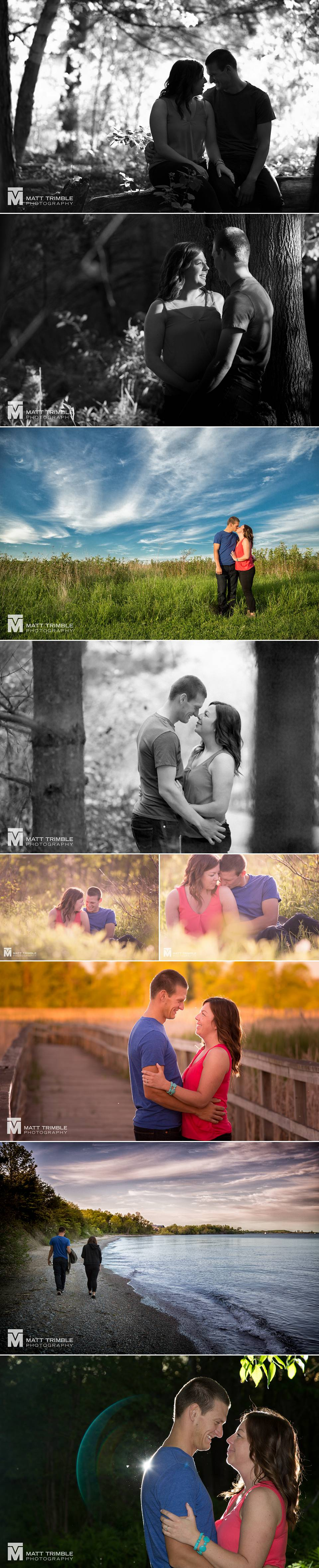 engagement photos at lynde shores conservation area in whitby