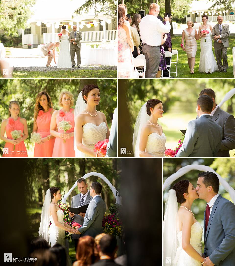 outdoor wedding ceremony at cotswolds estates