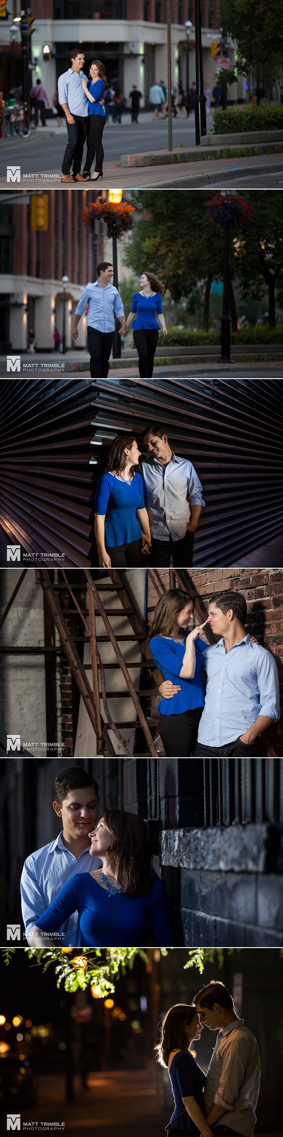 downtown toronto engagement photos
