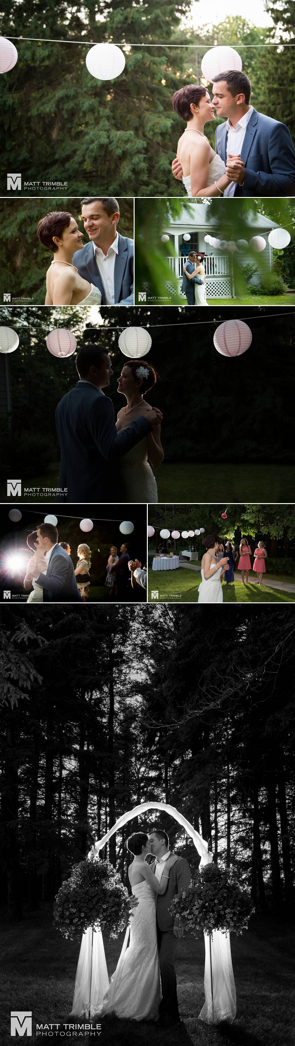 firstdance and outdoor wedding reception photos