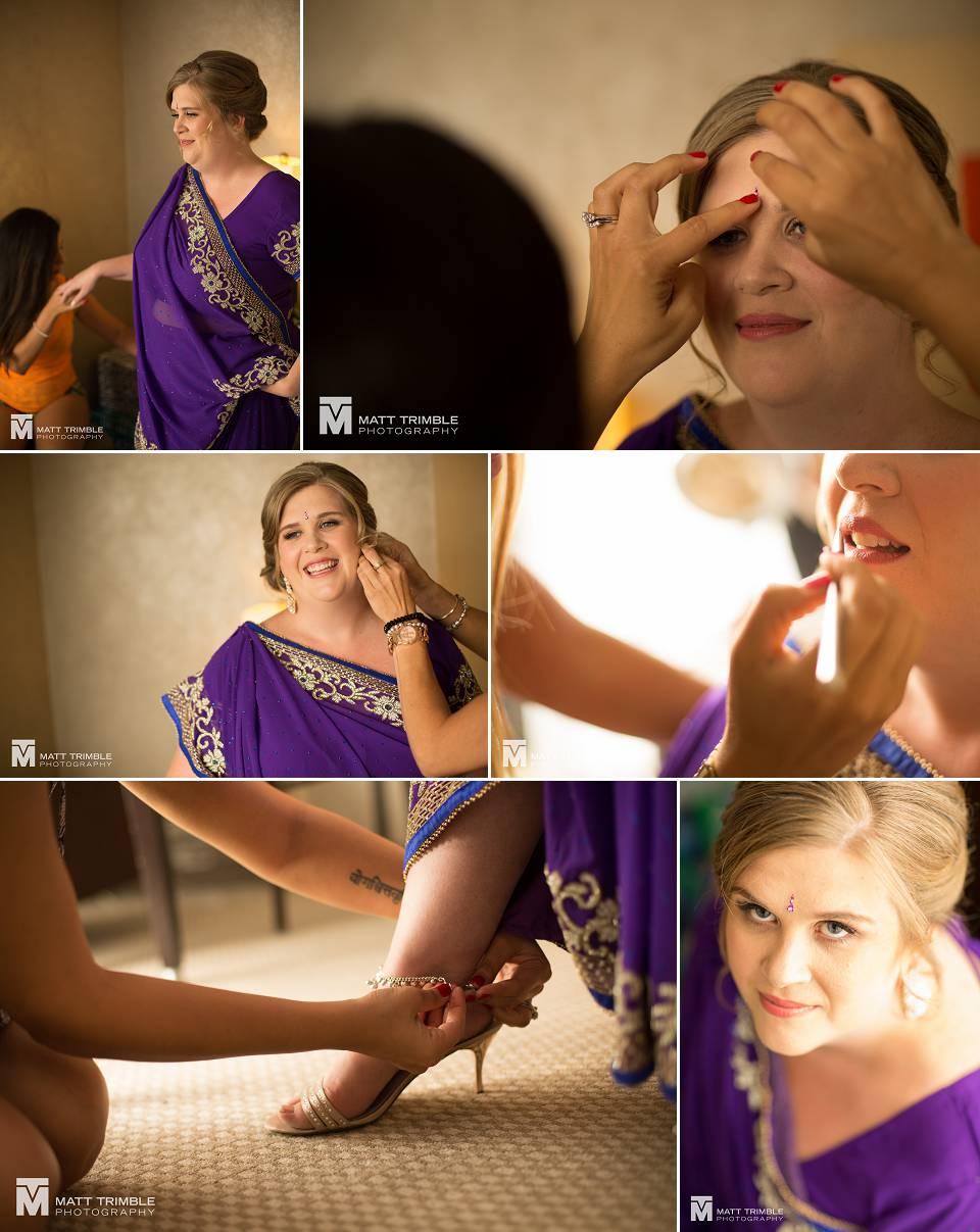 bride getting ready niagara
