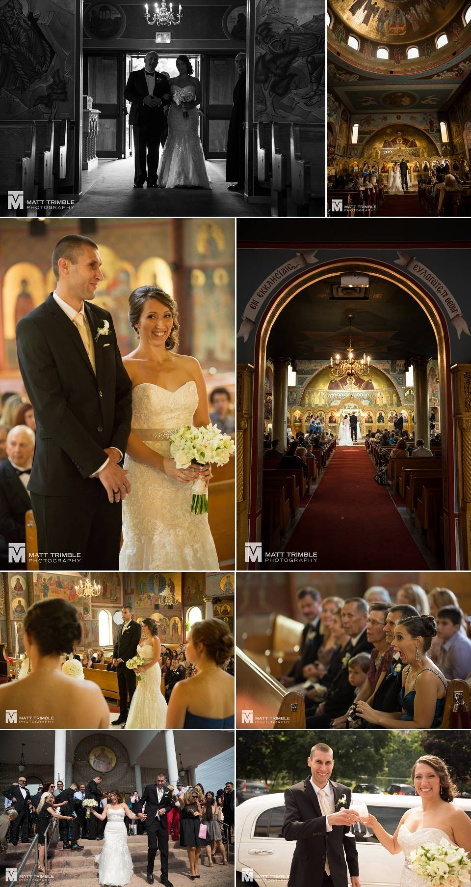 Greek orthodox wedding ceremony photos