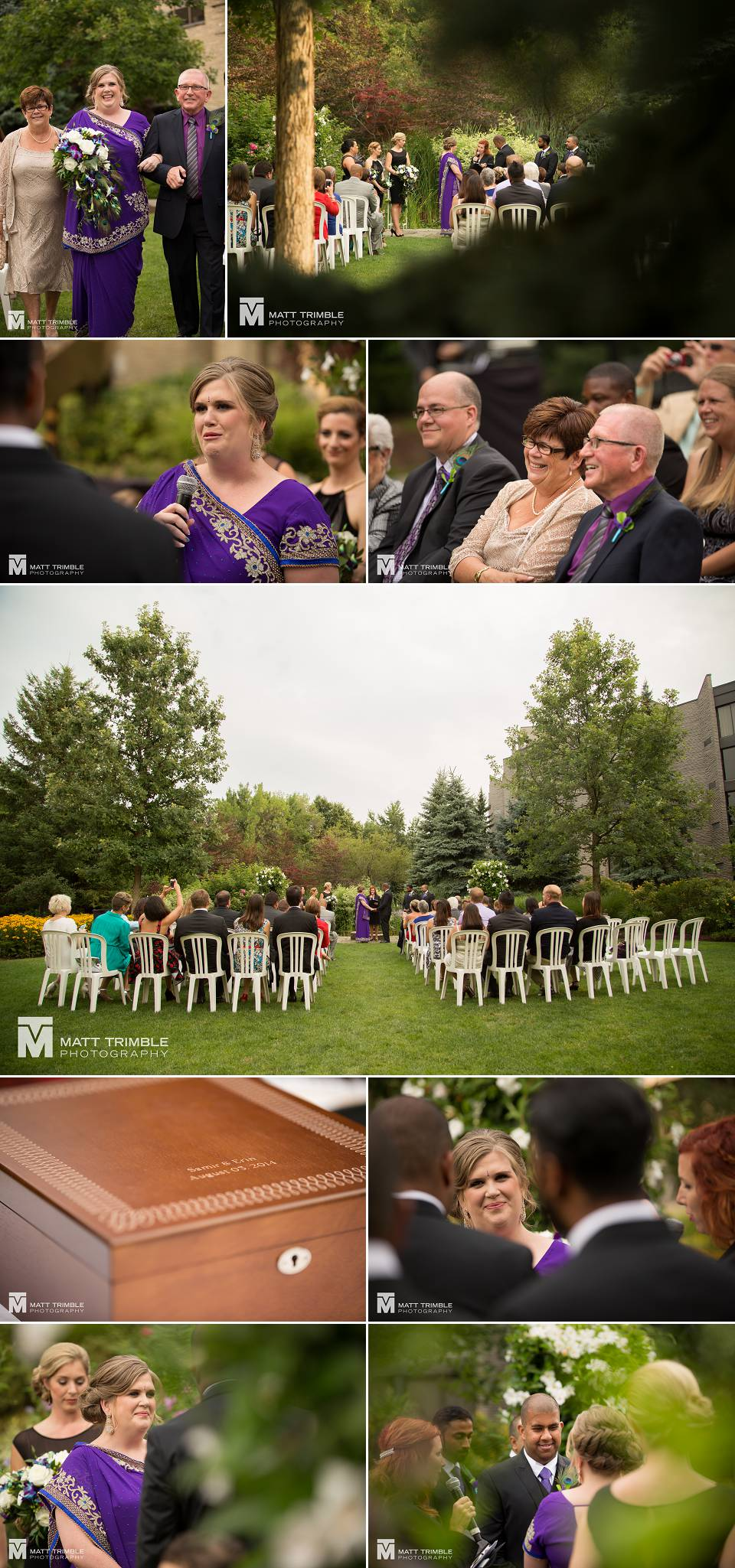 Niagara on the lake wedding ceremony photography