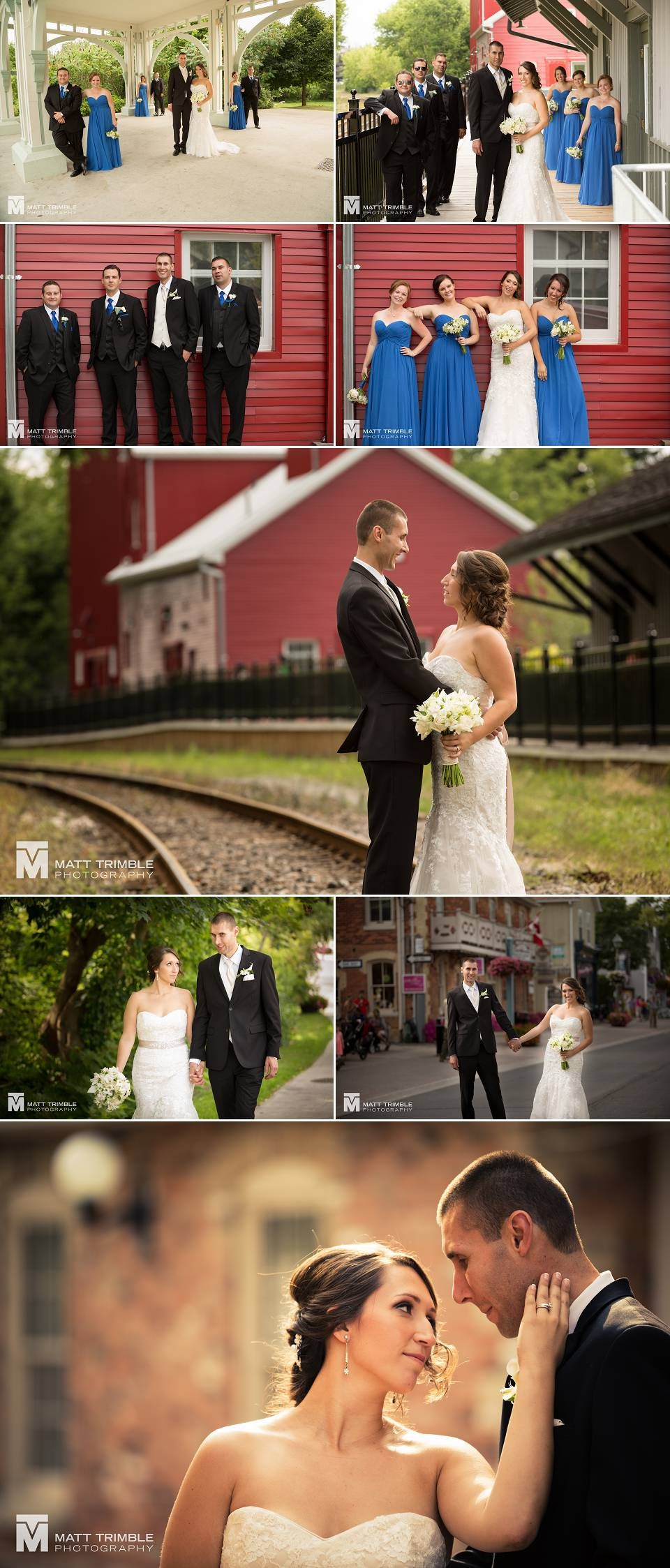 wedding photos along main street unionville