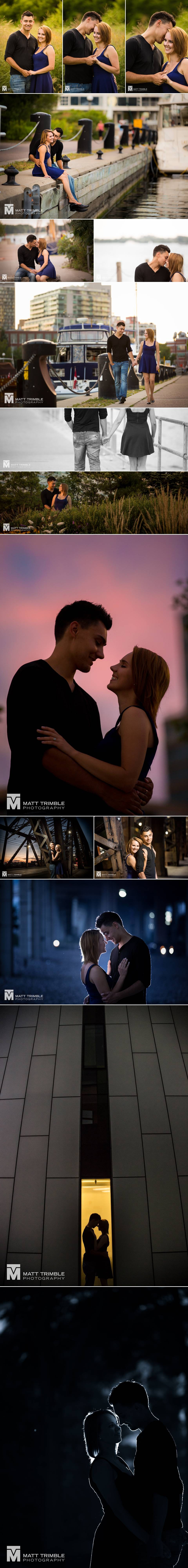 Engagement photography in downtown toronto
