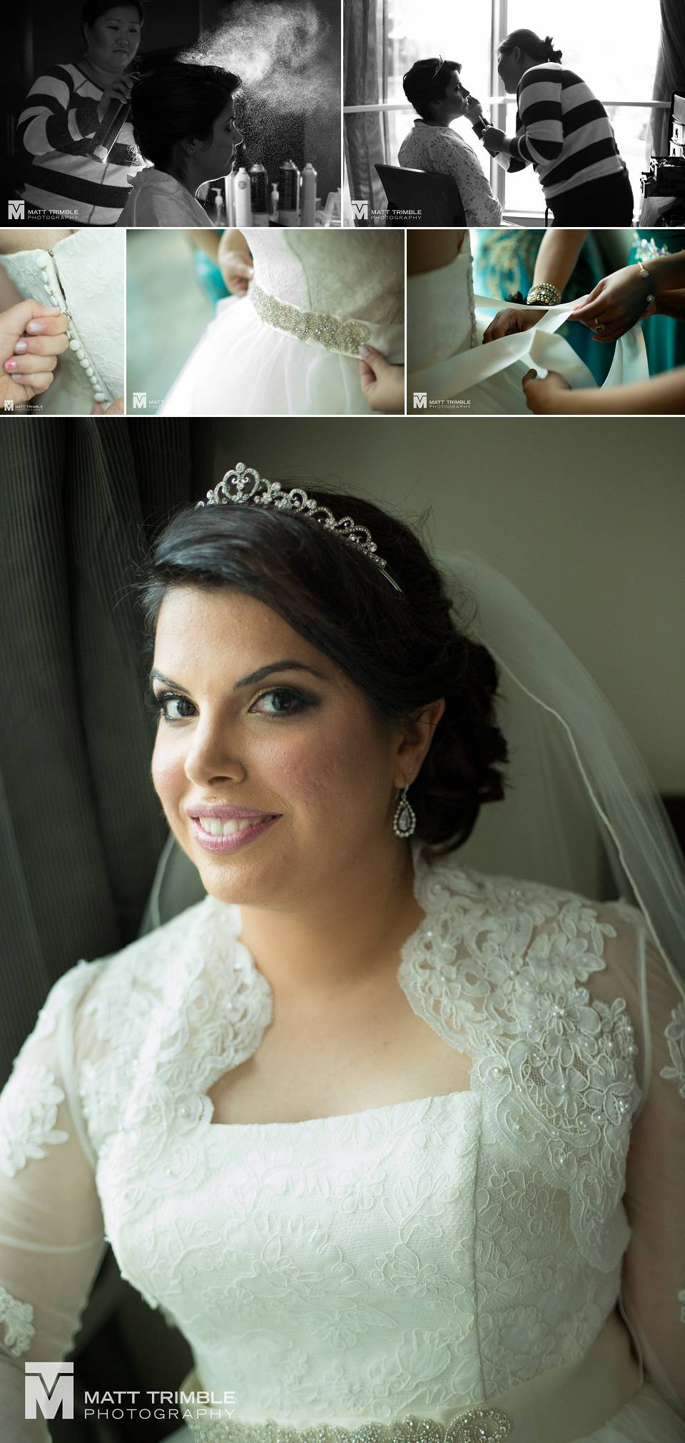 Bride getting ready for her unionville wedding
