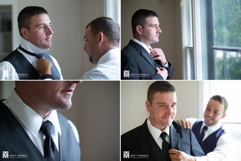 Groom getting ready for his pefferlaw wedding