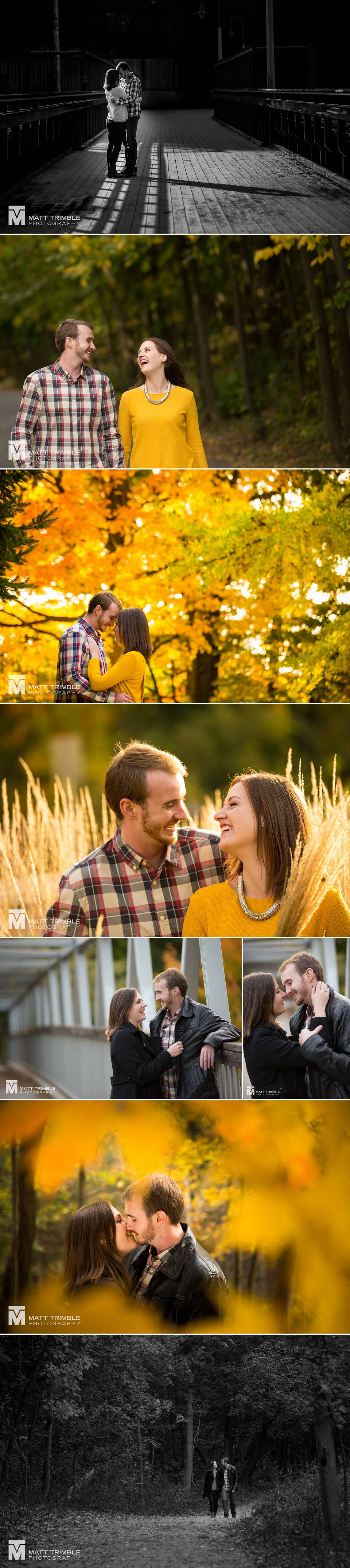 Engagement photography in Toronto Beltline Park