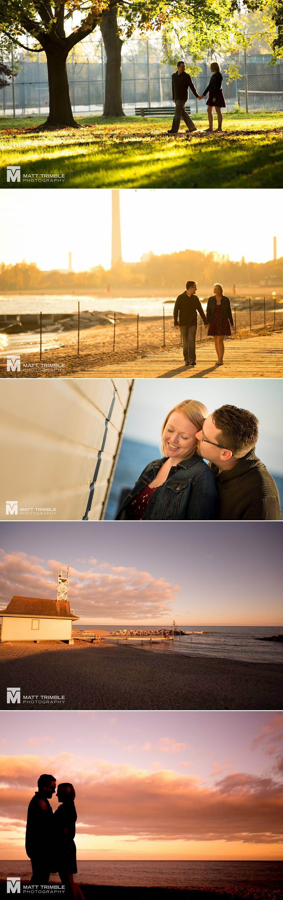 Engagement photography at the Toronto beaches