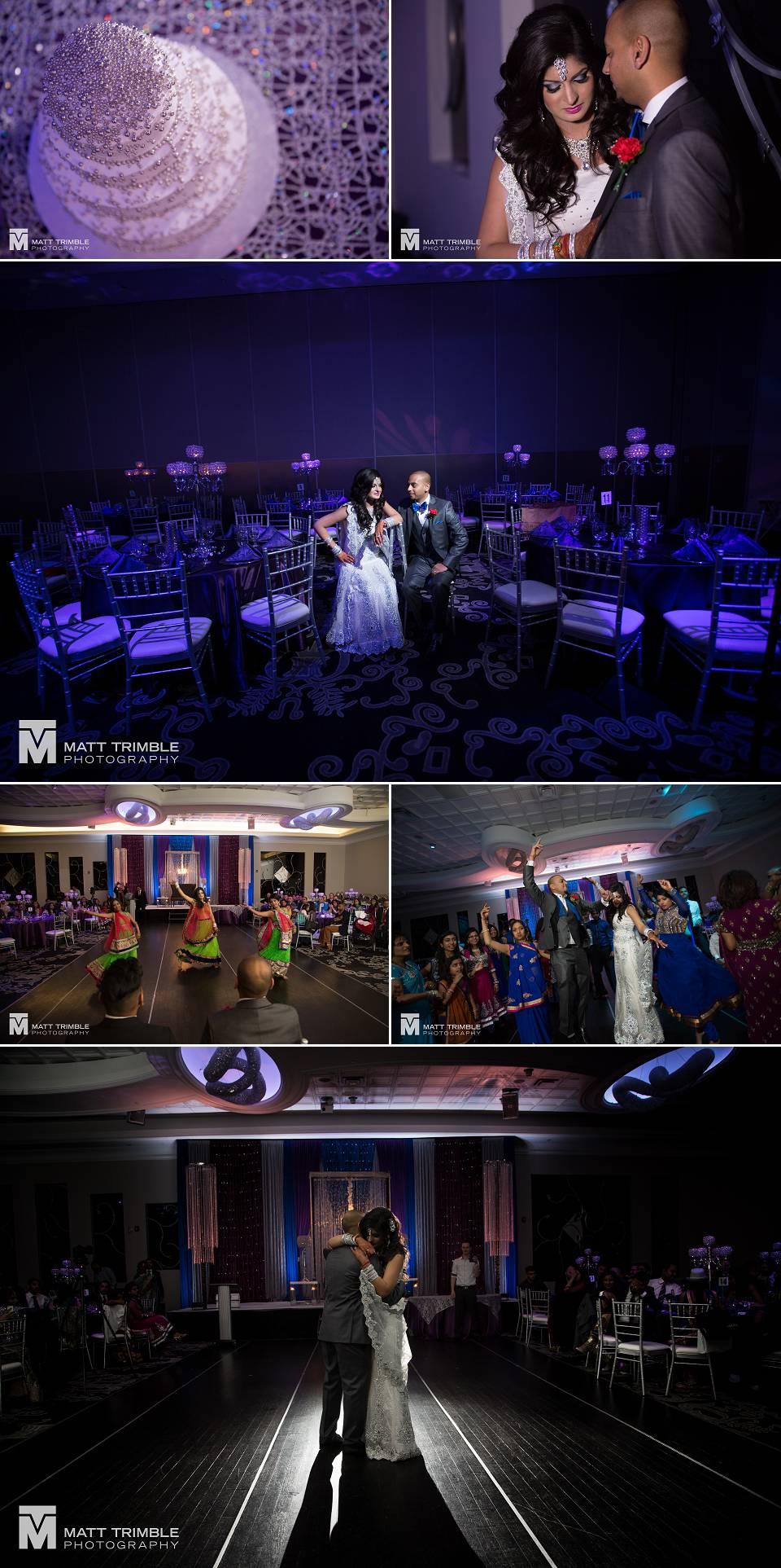 wedding reception at the Apollo Banquet Hall