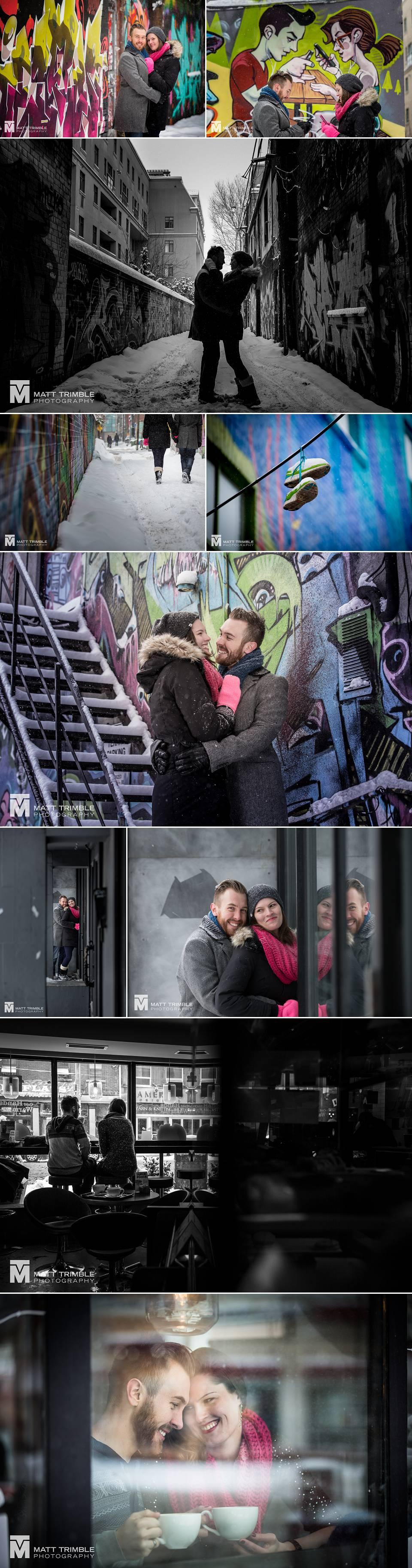 graffiti alley toronto engagement photography
