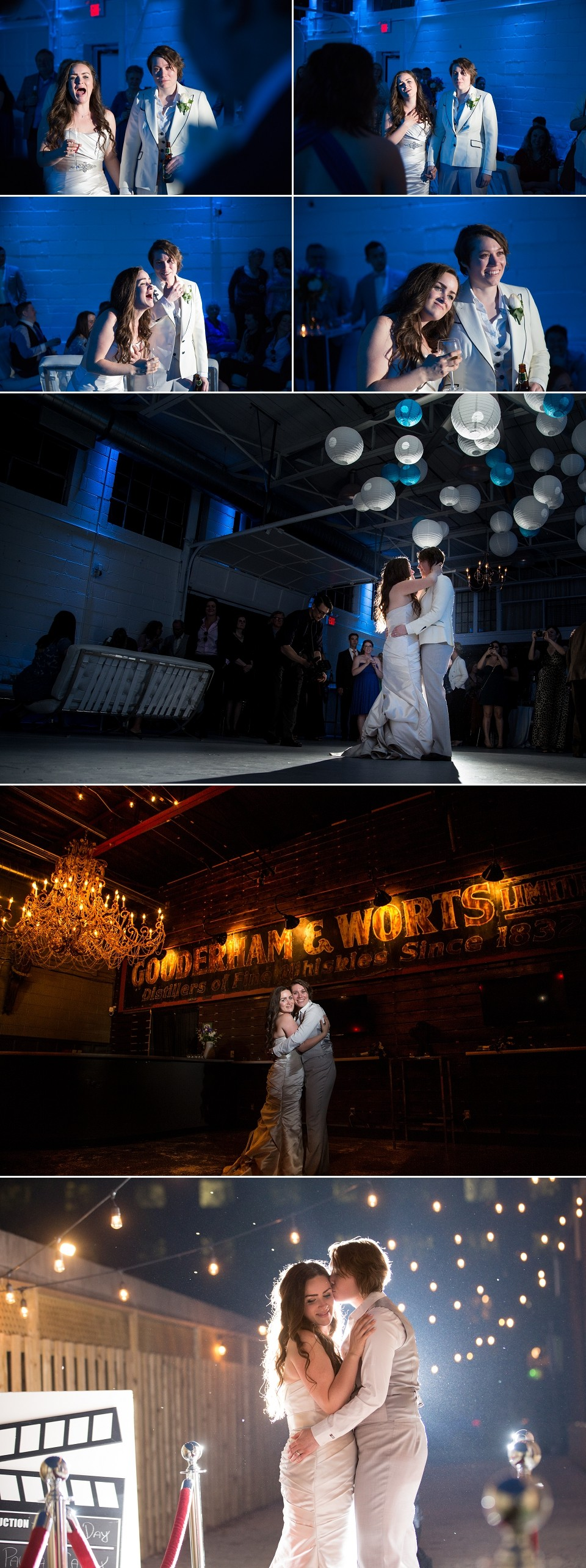 Wedding photography at the reception and night photos