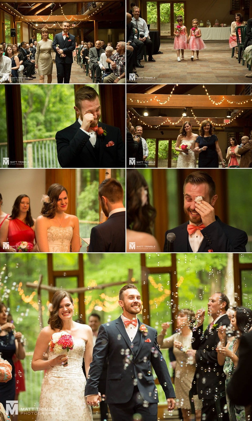 Kortright Centre wedding ceremony photos