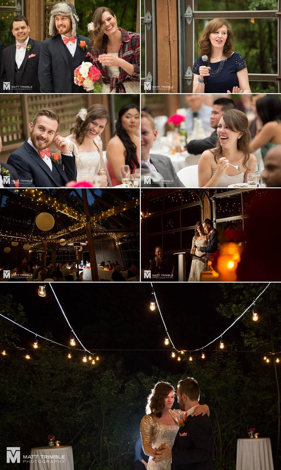 Kortight Centre wedding reception photography