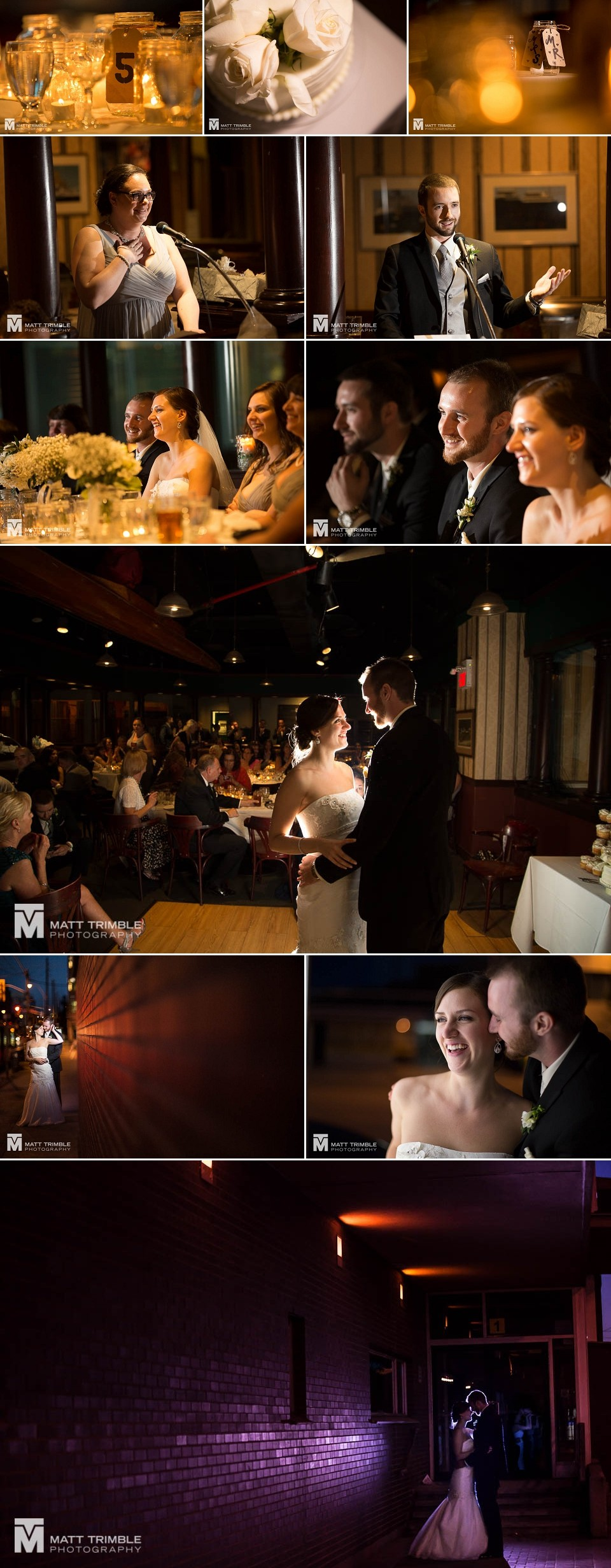 Granite Brewery Toronto wedding reception photos