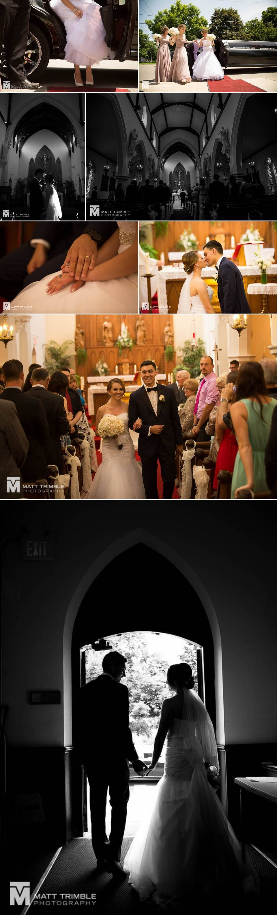 wedding ceremony photography in Sacred Heart Church