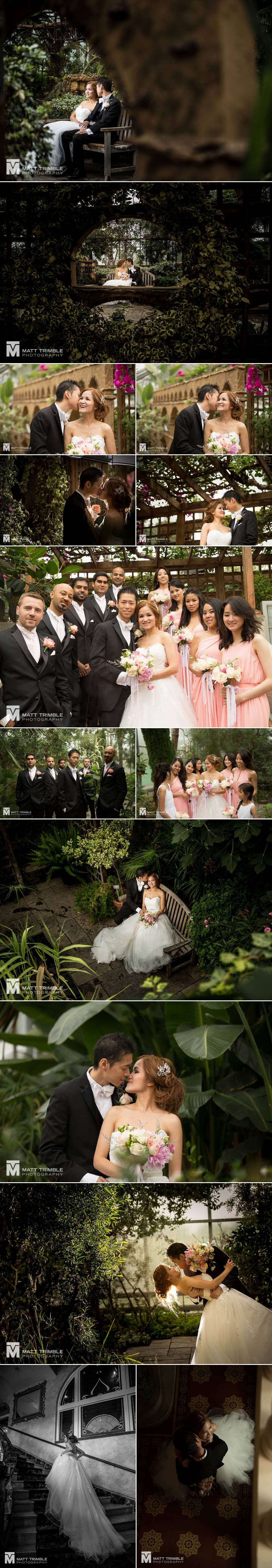 wedding photography at the Royal Botanical Gardens
