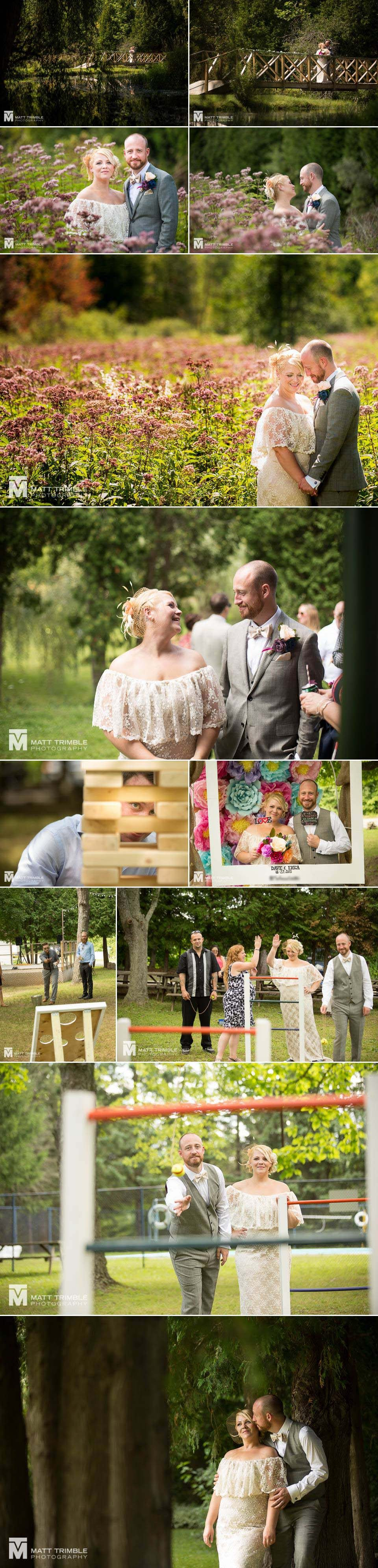 intimate bbq wedding photography