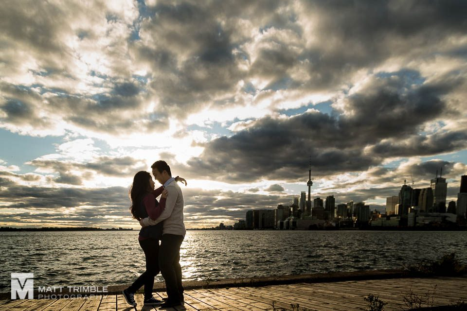 polson pier toronto engagement photography