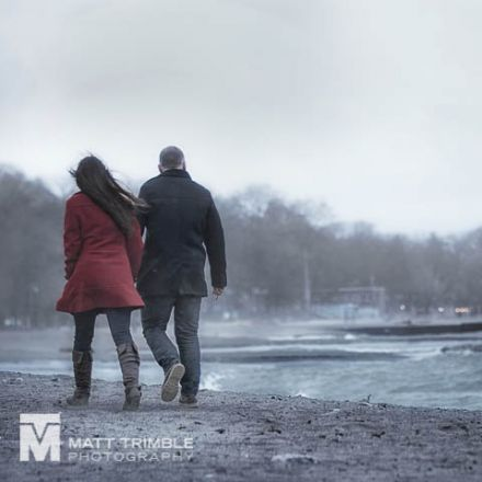 winter engagement photography the beaches toronto