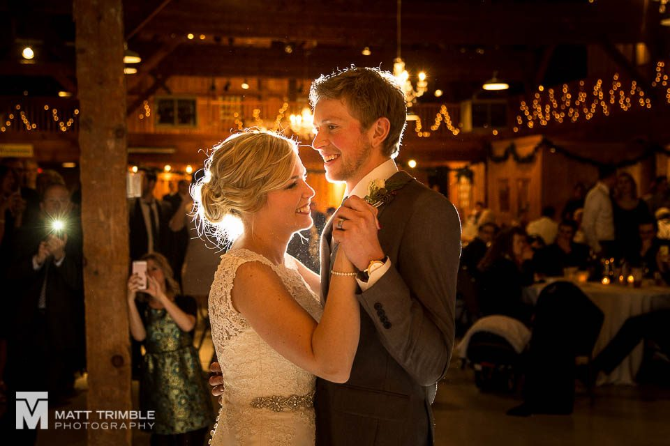 first dance at gambrel barn