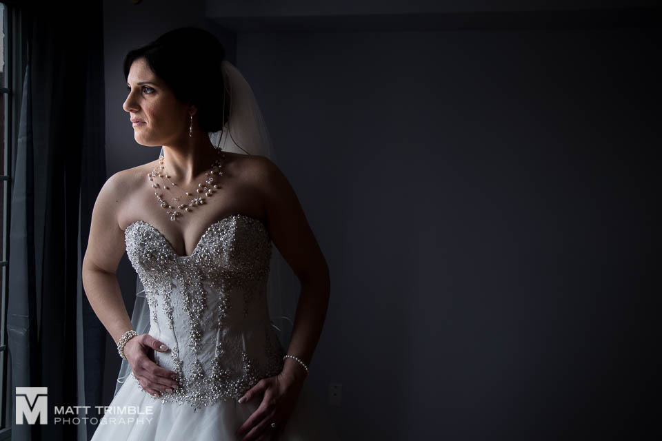 window bridal portrait