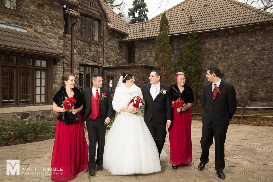 bridal party walking bob rumball manor wedding