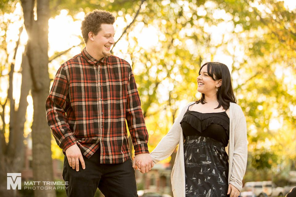 Riverdale Toronto engagement photography autumn