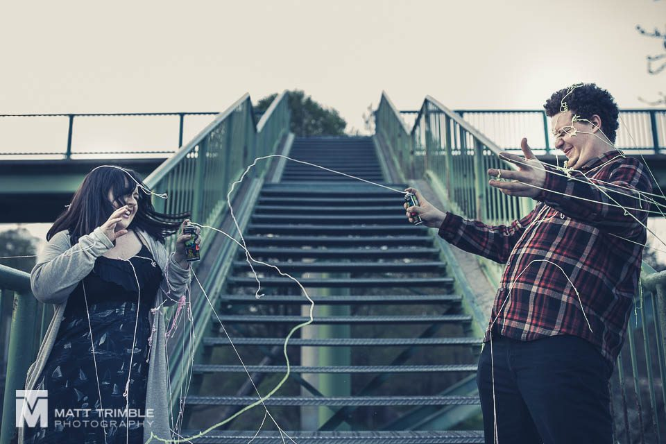 silly string toronto engagement photography