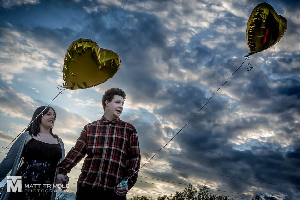 toronto engagement photography balloons