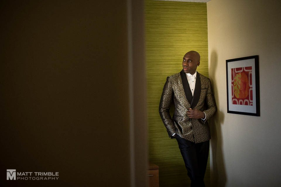 groom portrait hotel