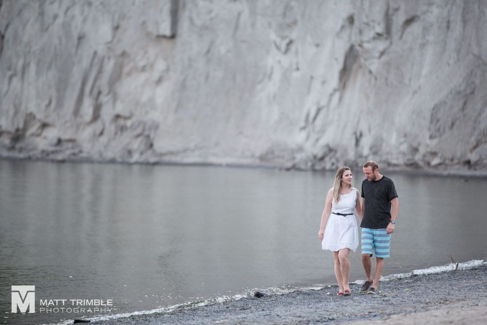 bluffers park engagement photography