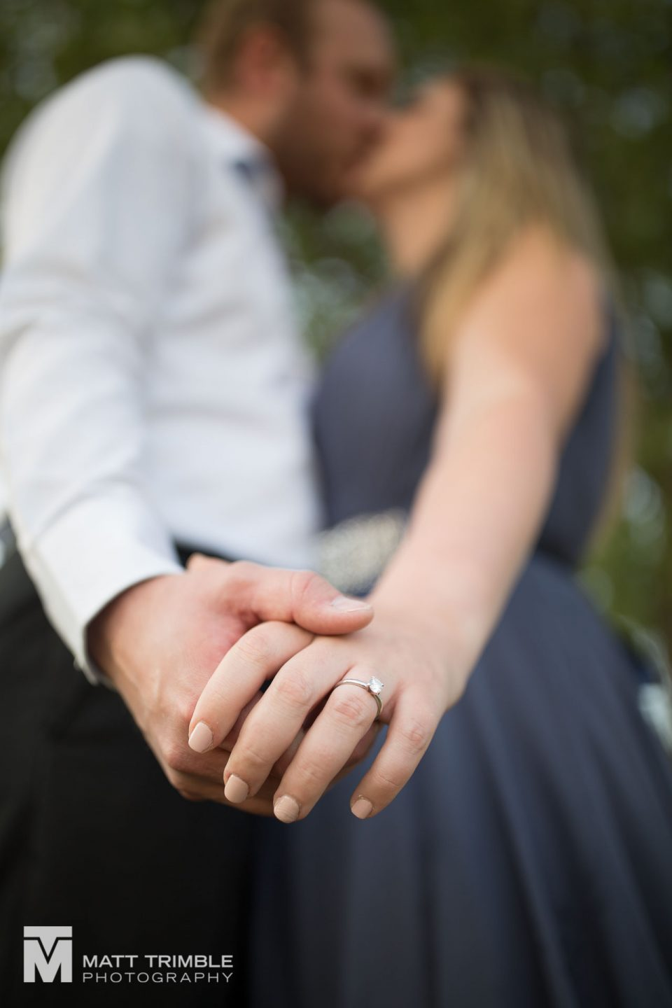 close-up-engagement-photo of hands