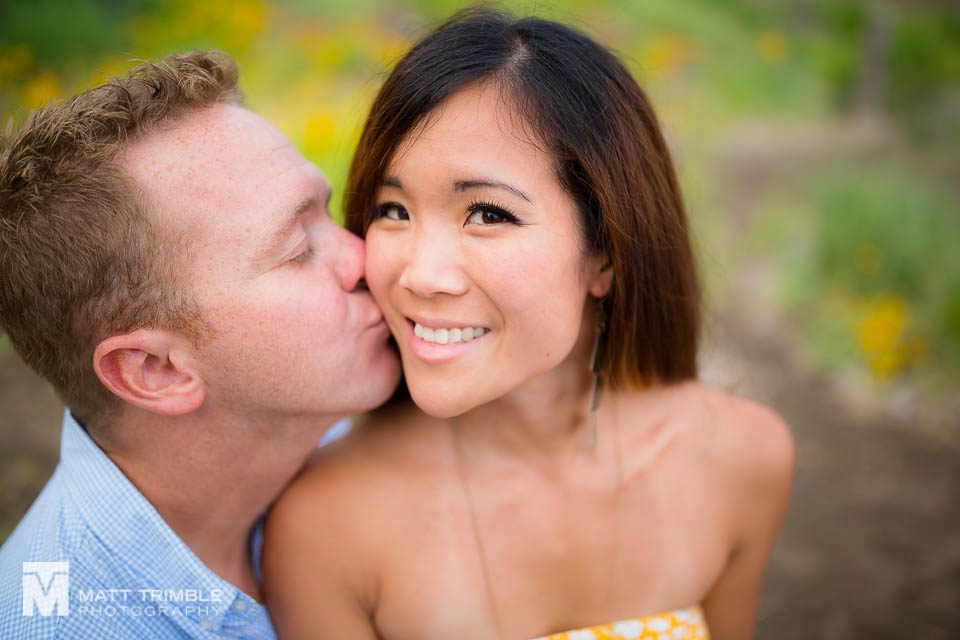 close up engagement photo cherry beach toronto