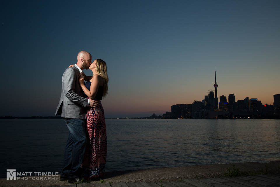 Polson pier engagement photo